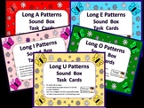 120 Elkonin Sound Box Phonics Task Cards-5 LONG VOWEL SETS Word Work Center