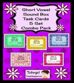 120 Elkonin Sound Box Phonics Task Cards-5 SHORT VOWEL SET