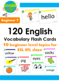 120 English Vocabulary Flash Cards (Beginner 1)