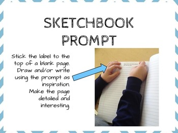 120 Extra Time Sticky Label Sketchbook Writing & Drawing Prompts