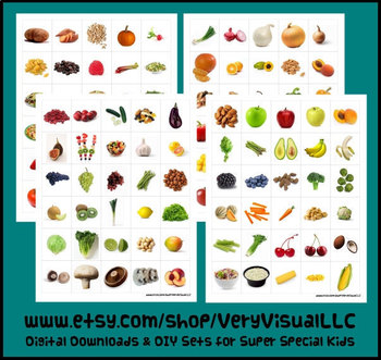 66f4bb9dd1f24 120 FRUIT & VEGETABLE PECS PictUrE CaRdS DiGiTaL DoWnLoAd speech autism  therapy