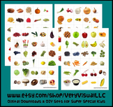 120 FRUIT & VEGETABLE PECS PictUrE CaRdS DiGiTaL DoWnLoAd speech autism therapy