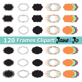 120 Frame Clipart Frame label frames clip art Tag Borders School Theme Rainbow