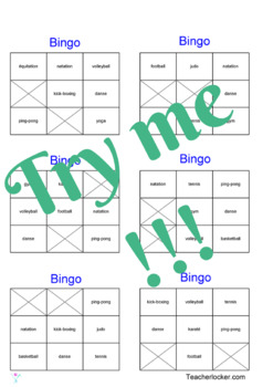 120 French bingo cards for beginners/pre-intermediate level