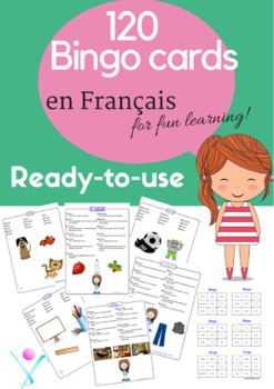 French games activities : bingo cards 120 ready to use printable