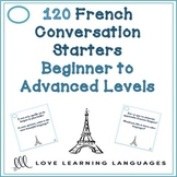120 French conversation starters - Beginner to advanced levels