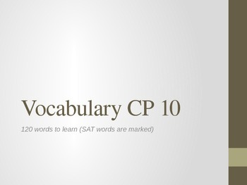 120 High School English Vocabulary Words