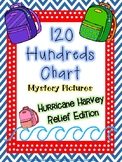 120 Hundreds Chart Mystery Pictures - Hurricane Harvey Rel