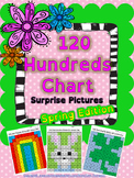 """Math: """"Spring Edition"""" 120 Hundreds Chart Mystery Pictures"""