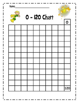 120 ~Hundreds Chart up to 120 ~Common Core Math