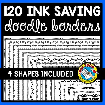 120 PAGE BORDERS AND FRAMES (BLACK AND WHITE CLIPART)