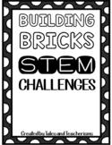 120 Building Blocks STEM / STEAM Challenge Task Cards and Mini Planning Journal