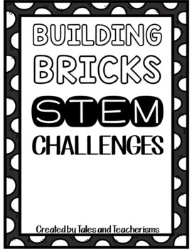 120 Building Blocks STEM / STEAM Challenge Task Cards and Mini Planning Journal