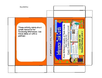 120 Main Idea, Cause and Effect, and Inference Task Cards (Guided Reading J - M)