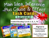120 Main Idea, Cause and Effect, and Inference Task Cards