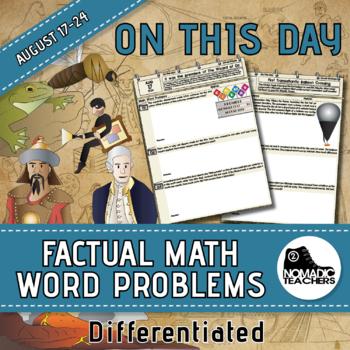 120 Math Word Problems - Aug 17th - 24th