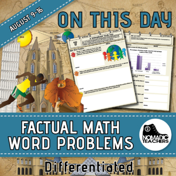120 Math Word Problems - Aug 9th - 16th