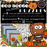 120 NUMBER CHART PUZZLES - FALL/AUTUMN