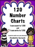 120 Number Chart Grids~Count and Write~math centers--FREEBIE!