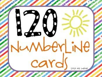 120 Numberline Cards