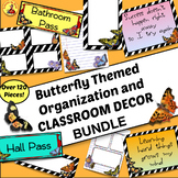 120+ Pieces Butterfly Themed CLASSROOM ORGANIZATION DECOR-