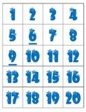 120 Pocket Chart Numbers ~ Snowflakes Numbers