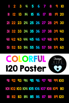 120 Poster-Black and Brights