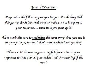 120 SAT Vocabulary Bell Ringers