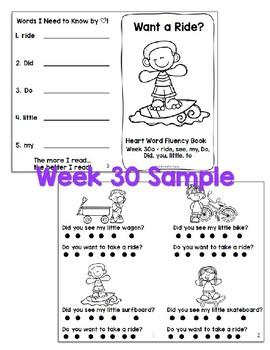 120 Shared Reading Sight Word (Heart Word) Kindergarten Fluency Books