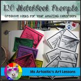 120 Sketchbook Prompts, Task Cards