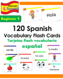 120 Spanish Vocabulary Flash Cards (Beginner 1 set)