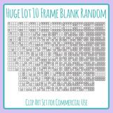 120 Ten Frames - Huge Lot of Blank Random Fill 10 Frames Clipart for Coloring