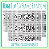 120 Ten Frames - Huge Lot of Random Fill 10 Frames Clipart Set Commercial use