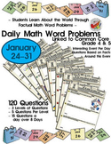 120 Math Word Problems -  Daily Jan 24th-31st