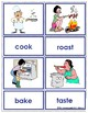 120 Verb Flash Cards Picture-Word matching cards ENGLISH