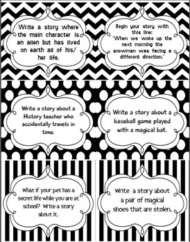 120 Writing Prompts-NOT Common Core Aligned