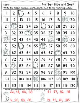 120's Chart Hide and Seek