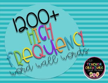 1200+ High Frequency Word Wall Words