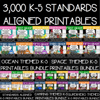 K-5 Anytime Printables ULTIMATE GROWING BUNDLE