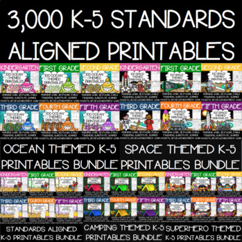 3,000 Distance Learning Printables {Google Classroom Able}