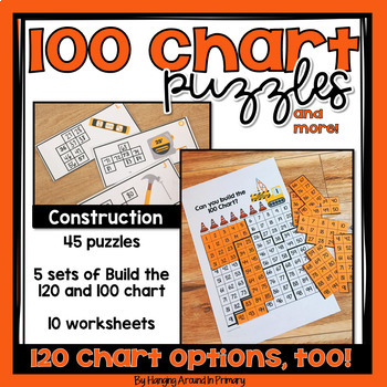 120 Chart Task Cards and Printables - Construction Theme