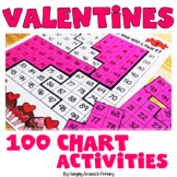 100 Chart Activities and Worksheets | 120 Chart - Valentines
