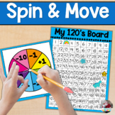120 Board- SPIN AND MOVE +/- ONE and TEN
