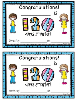 120th DAY OF SCHOOL BOOK