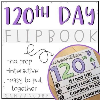 120th Day Flip Book (NO PREP)
