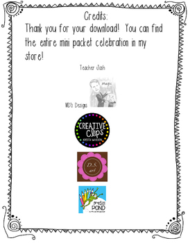 120th Day Mini Celebration Packet Freebie!