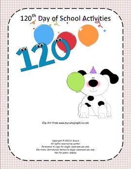 120th Day of School Activities