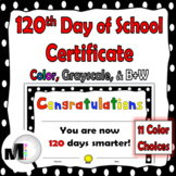 120 Days of School Certificate