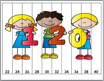 120 Days of School Number Puzzles