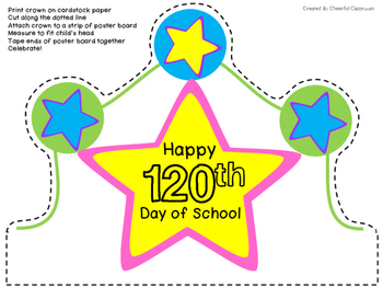 120th Day of School Crown